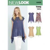 6453 New Look Pattern: Misses' Easy Knit Tops